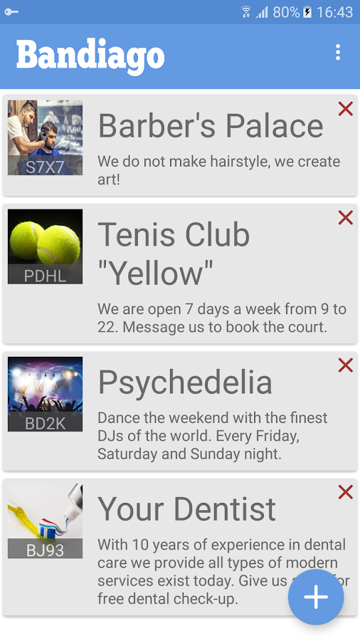 Bandiago App- screenshot