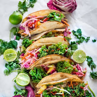 Tilapia and Kale Slaw Tacos.
