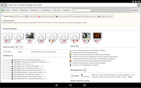 sheltermanager- screenshot thumbnail