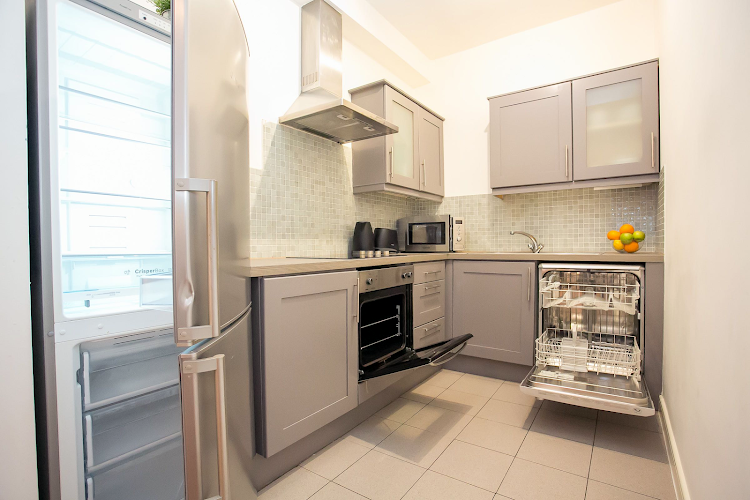 Kitchen at IFSC Mayor Street apartment