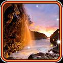 Waterfall Sunset HD LWP icon