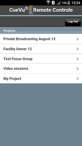 CueVu Remote Control App