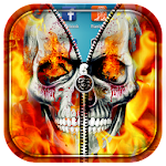 Skull Zipper Lock Screen Icon