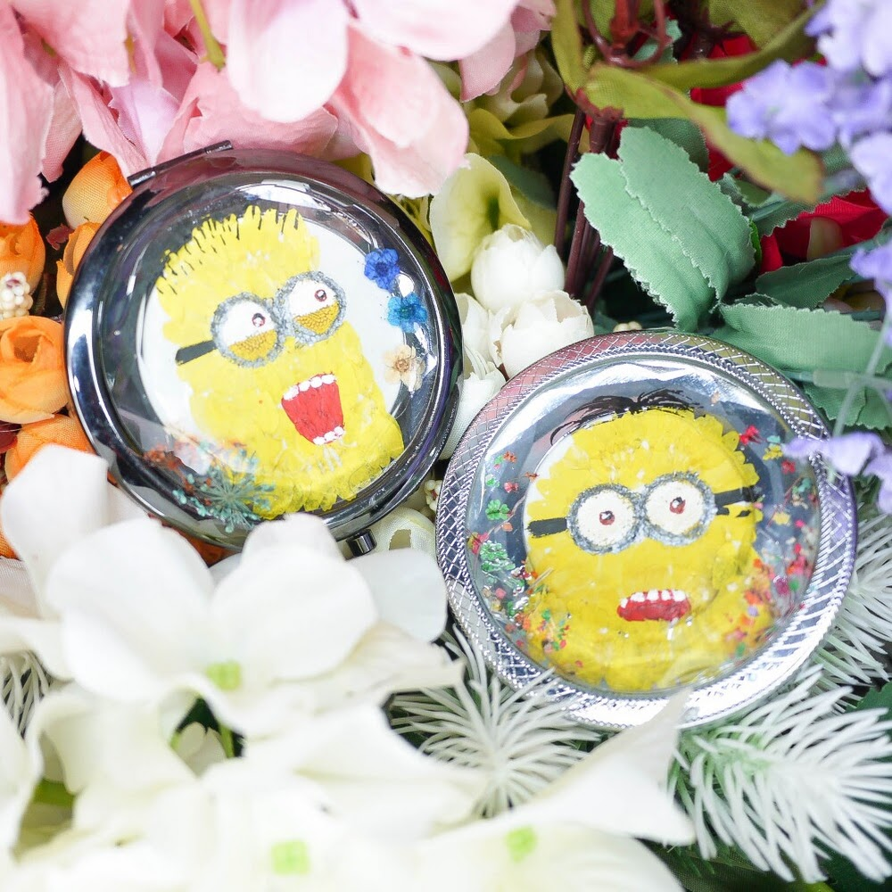[訂製/custom-made] Cartoon Characters Pressed Flower Mirror