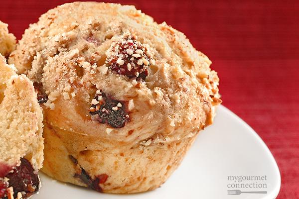 Cherry-Almond Muffins Recipe