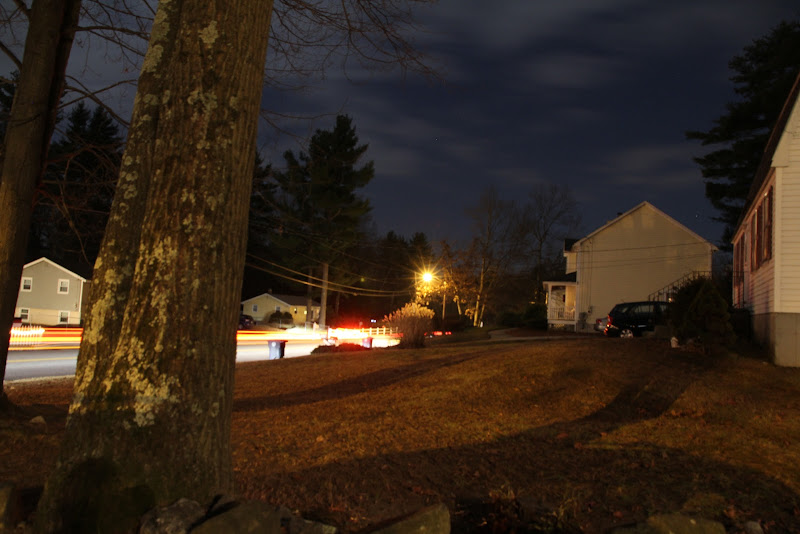 Photo: A ten second exposure following some taillights down the street.