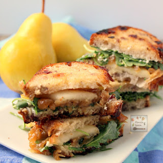 Pear, Honey, Cheese and Caramelized Onion Sandwiches Recipe