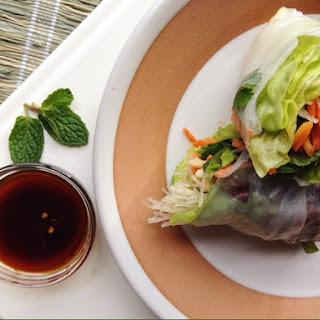 Spring Rolls with Honey-Soy Dipping Sauce.