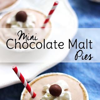 Mini Chocolate Malt Pies