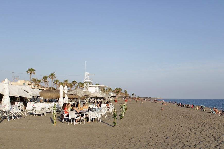 Almería, playa de la Térmica.