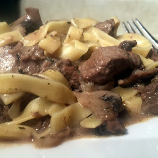 Creamy Beef and Mushroom Stroganoff.