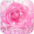 Diamond Pink Rose Theme apk