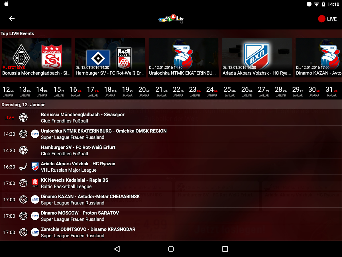 LAOLA1.tv- screenshot