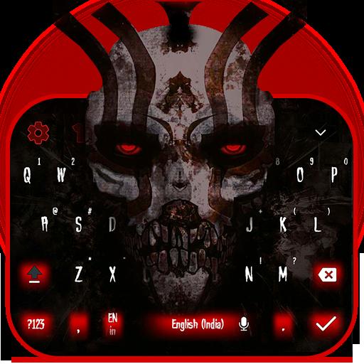 red skull theme totem