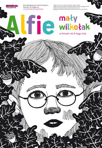 Polski plakat filmu 'Alfie, Mały Wilkołak'