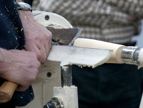 Photo: Here he showed that an axe is just a form of a skew.