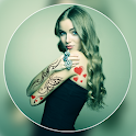 Color Tattoo On Photo