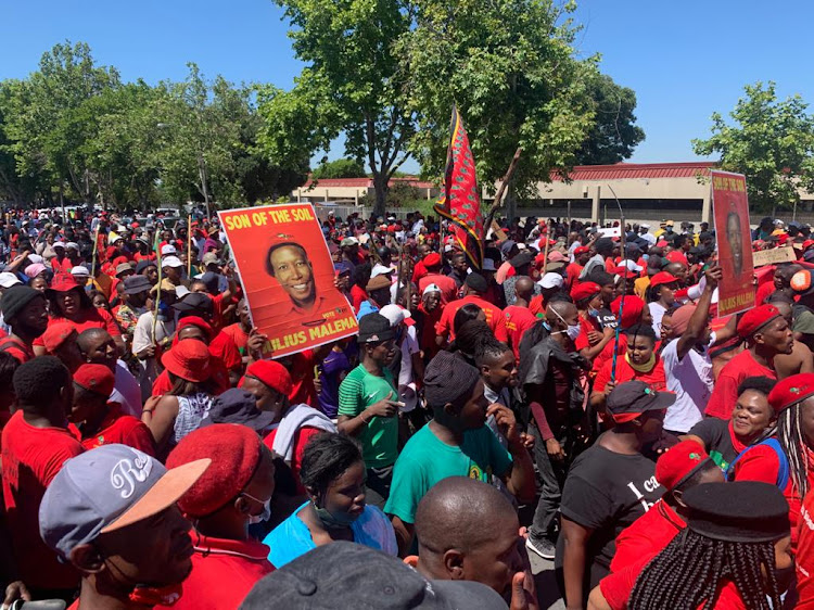 Hundreds of EFF supporters assembled on November 20 for a march on Brackenfell High.