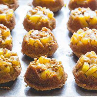 Low Sugar Apple Upside-down Muffins.