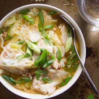 Vegan Shiitake Wonton Soup.