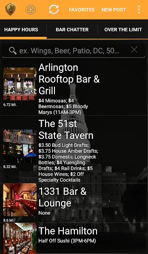 DC Happy Hours