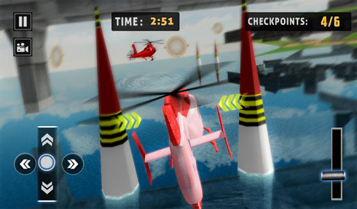 Flying Helicopter Simulator 2019: Heli Racer 3D  screenshots 13