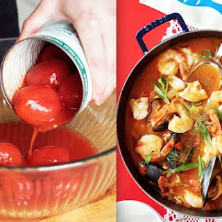 Cioppino with Mussels, Cod and Shrimp.