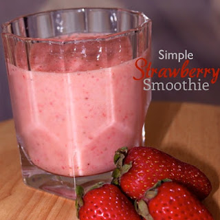 Super Simple Strawberry Smoothie.
