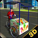 City Ice Cream Delivery Icon