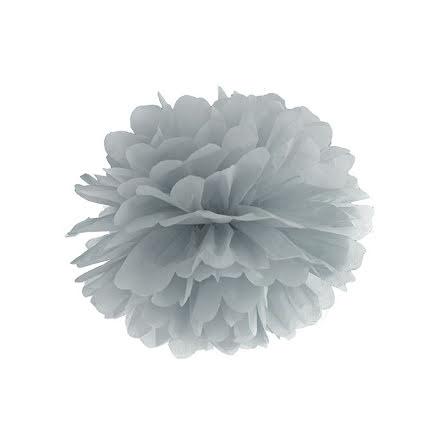 Pom pom - grå 35 cm