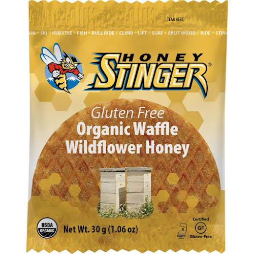 Honey Stinger Gluten Free Organic Waffle: Wildflower Honey, Box of 16