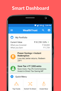 WealthTrust: Mutual Fund App- screenshot thumbnail