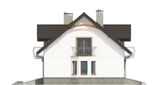 Dom Dla Ciebie 3 z garażem 1-st. A - Elewacja lewa