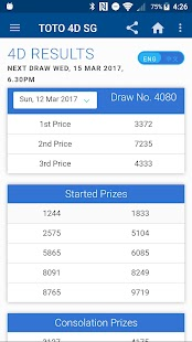 SG TOTO 4D BIG SWEEP RESULTS - náhled