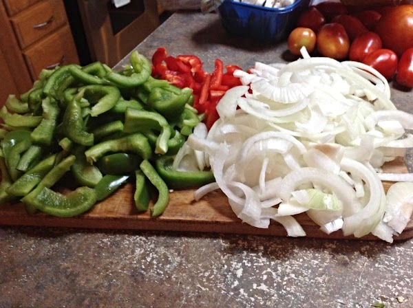Wash veggies(except mushrooms) and cut into desired pieces.