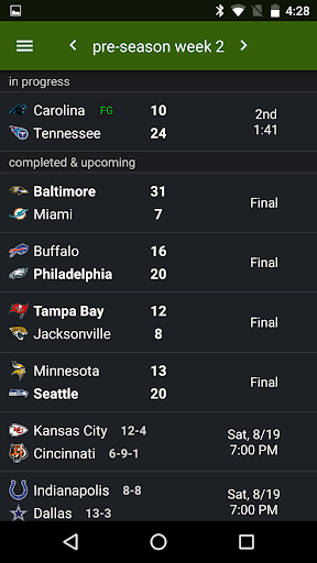 Sports Alerts - NFL edition 2.7.1 screenshots 5