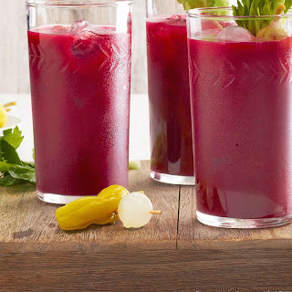 Spicy Beet Bloody Marys.