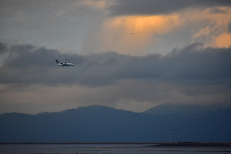 Photo: Sunset Sea Island and Vancouver International Airport, view from W Dyke Trail in Richmond, BC