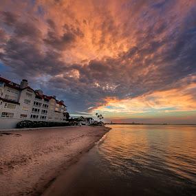 Coronado - 7.9.17 by Clifford Swall - Landscapes Beaches ( san diego, california, sunset, sea, ocean, long exposure, beach, sun )