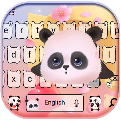 Pink panda Keyboard theme