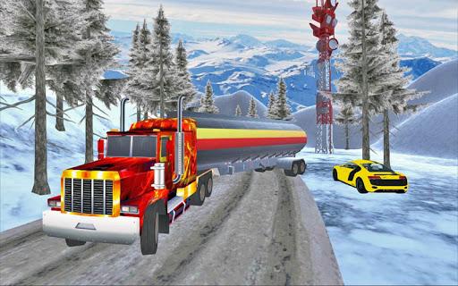 驅動 雪 山 油 卡車