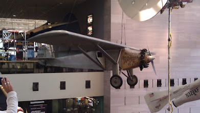 Photo: Smithsonian Air and Space Museum. The actual Spirit of St. Louis
