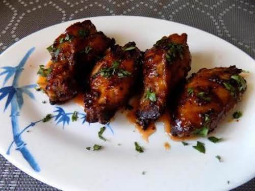 "Grilled Asian Wings""The marinade was great and had a little kick to..."