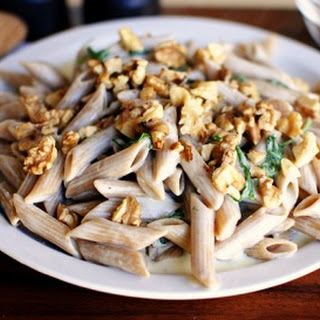 Creamy Penne with Blue Cheese Sauce.