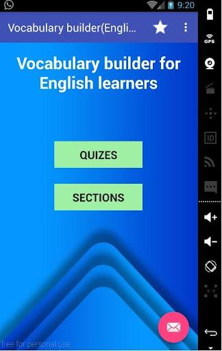 Vocabulary builder English