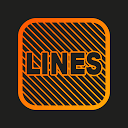 Lines Square - Neon icon Pack