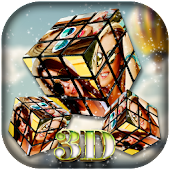 3D Cube Photo Live Wallpaper
