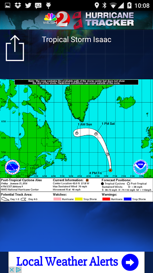 Hurricane Tracker WESH 2- screenshot