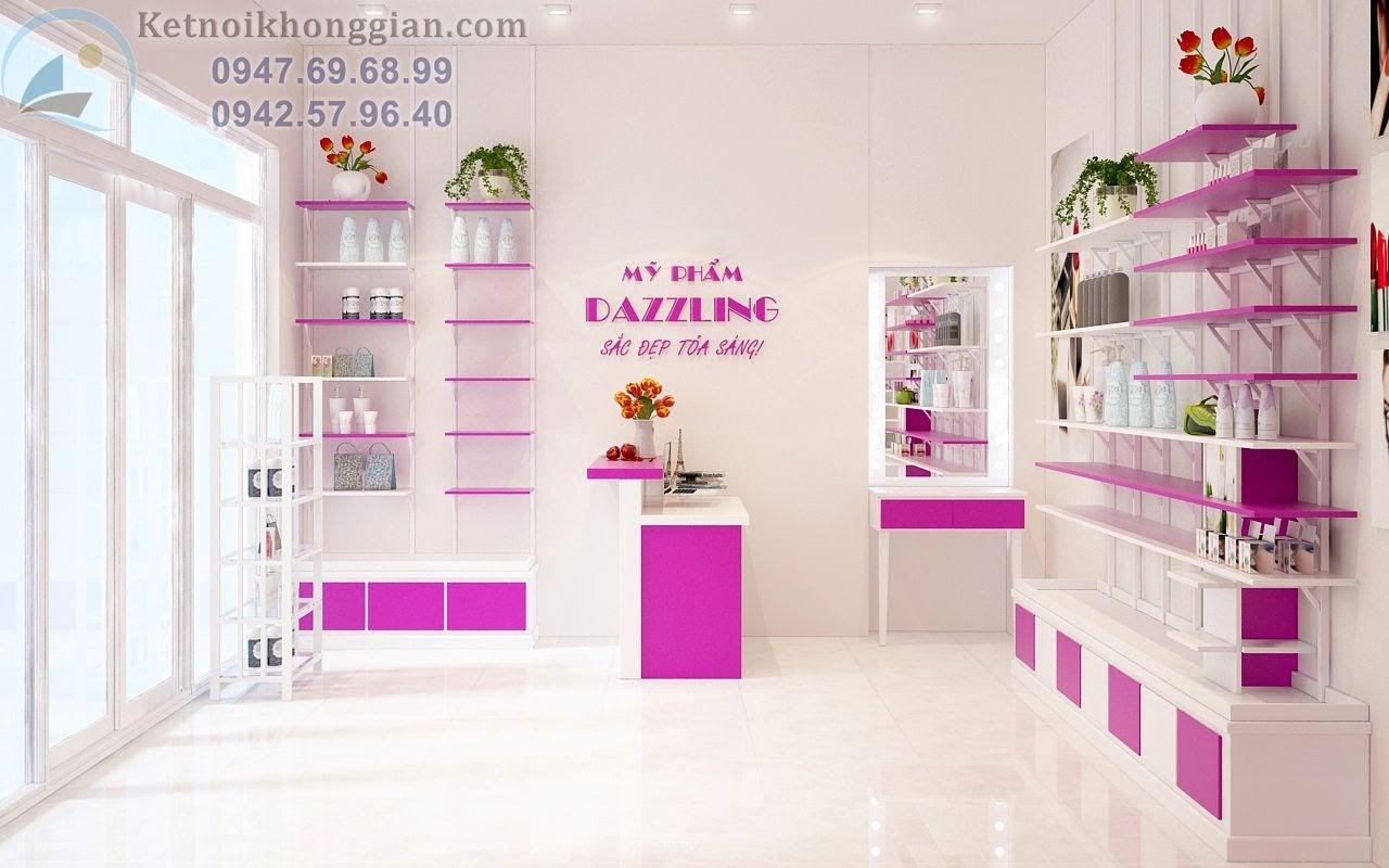 thiết kế cửa hàng mỹ phẩm đẹp