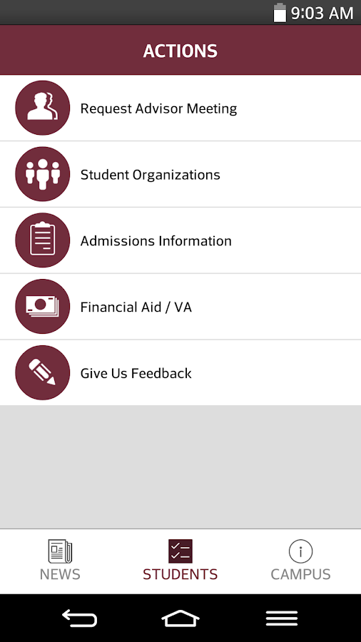 Texas A&M-SA, Business- screenshot